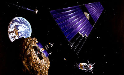 asteroid mining illustration