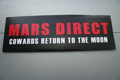 Mars Society bumper sticker