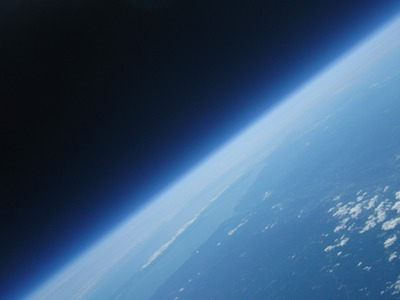 image of Earth from balloon