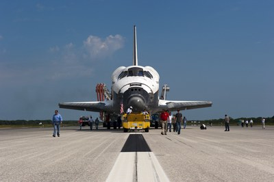 Atlantis after sTS-135 landing