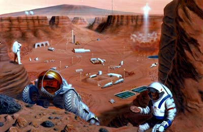 Mars exploration illustration