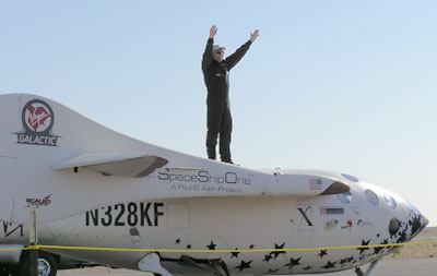 SpaceShipOne X PRIZE flight