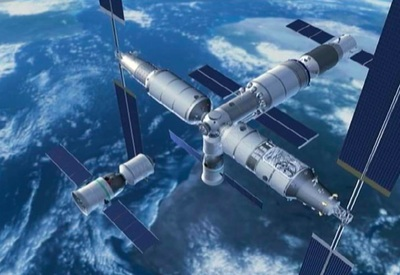 China space station illustration