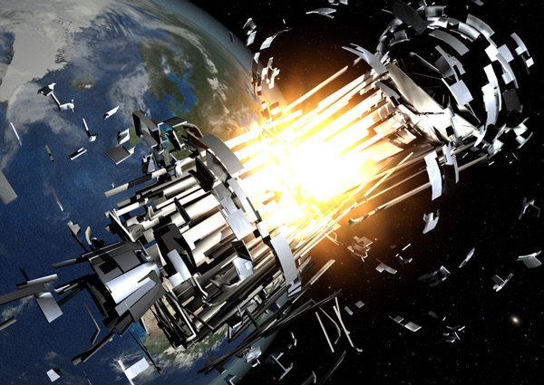 satellite explosion illustration
