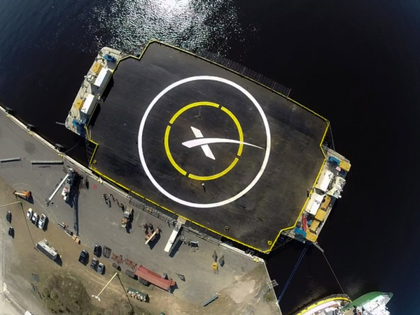 SpaceX landing ship