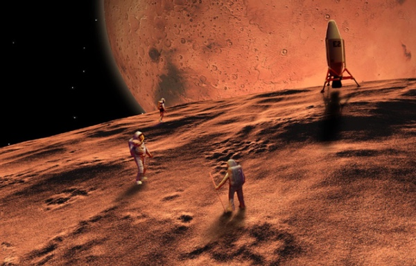 Human mission on Martian moon