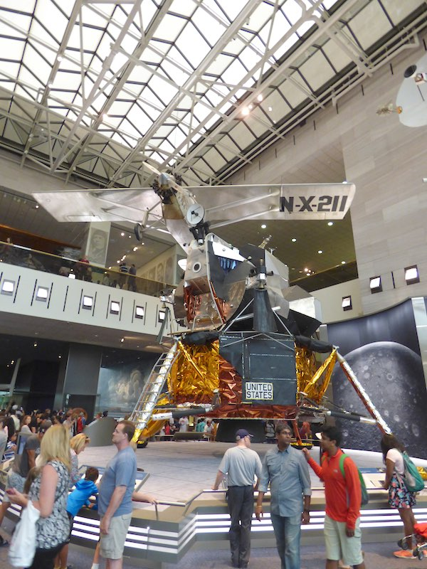 Apollo LM and Spirit of St. Louis