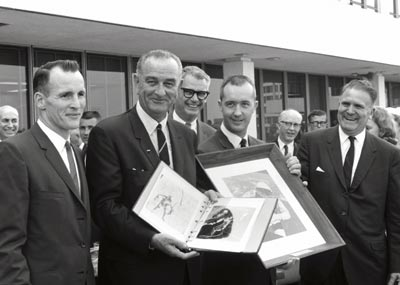 LBJ at NASA