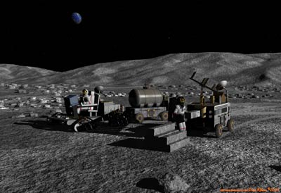 Lunar settlement illustration