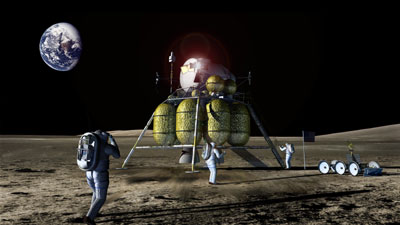 Lunar landing illustration