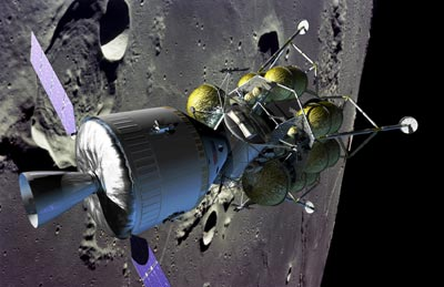 lunar exploration illustration