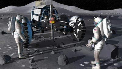 lunar drilling illustration