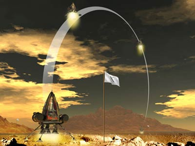 Lunar Lander challenge illustration