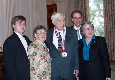 Roger Easton and family