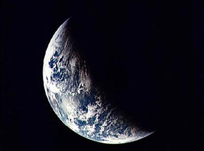 Earth seen by Apollo 11