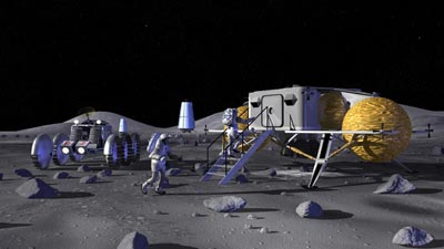 Lunar base illustration