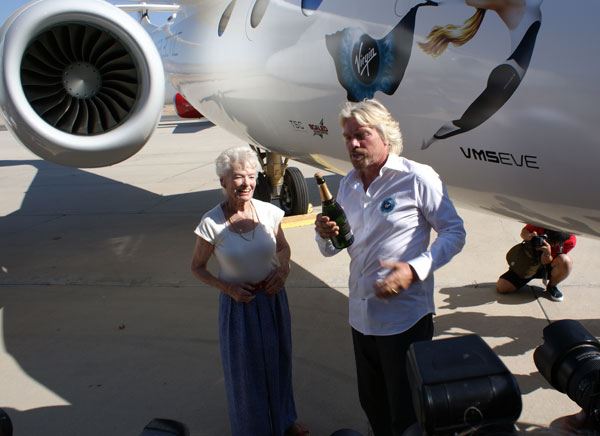 Eve and Richard Branson