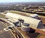 Udvar-Hazy center aerial shot