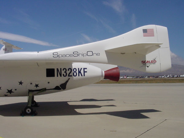 Tail of SpaceShipOne